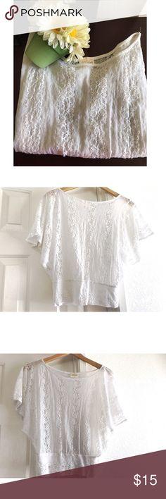 Floral lace top 🌺🌻🌹🌷🌼🌸💐 White floral lace top 🌻🌻🌻 Tops Blouses