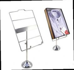 257.25$  Buy here - http://aliiaa.worldwells.pw/go.php?t=2050585278 - Mirror silvery Store display fixture Metal Shirt Blouse T-Shirt Holder stand Desktop showing display rack shelf to show T-shirts 257.25$