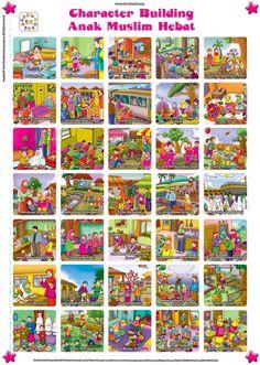 Poster Panduan Character Building Anak Muslim Hebat | Ebook Anak