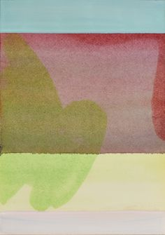 """take me to a simple place (5) 2013 watercolor on fabrinao 10"""" x 7"""" #SarahHinkley #AbstractArt"""