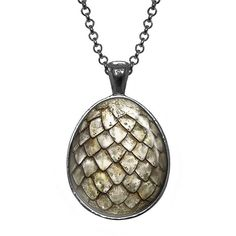 Amazon.com: White Dragon Egg Necklace, Game of Thrones Pendant, Geek... ($13) ❤ liked on Polyvore featuring jewelry, necklaces, white jewelry, birthday jewelry, white necklace, pendant jewelry and white pendant necklace