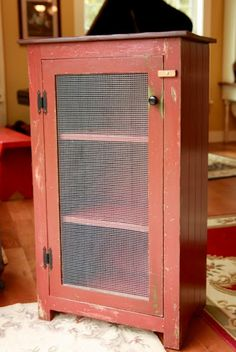Huckleberry Lane: Charming Red Pie Safe ~ ***SOLD***