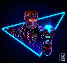 "1,120 Likes, 39 Comments - Aniket Jatav (@aniketjatav) on Instagram: ""57/365 : NEON MARVELS Artwork : 21 - @prattprattpratt as STAR-LORD : The Legendary Outlaw The…"""