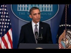 President Obama delivers a statement on today's shooting at a school in Newtown, Connecticut. December 14, 2012.