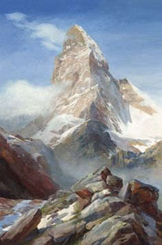 The Matterhorn, Limited Edition Print (Giclee) from an original oil painting by Rob Piercy