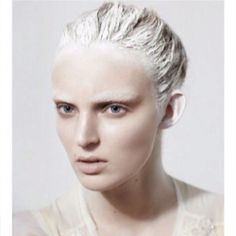 Hair paint with makeup a bit more masculine.