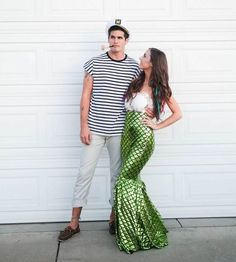 DIY Mermaid & Sailor Halloween Couple Costume Idea