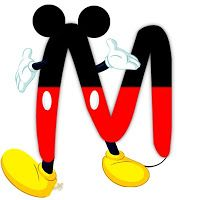 Original Alphabet inspired by Mickey Mouse - M. Disney Mickey Mouse, Mickey Mouse E Amigos, Fiesta Mickey Mouse, Mickey Y Minnie, Mickey Mouse And Friends, Disney Letters, Mickey Mouse Letters, Theme Mickey, Disney Alphabet