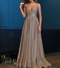 Princess Prom Dresses Long, 2020 Champagne Formal Dresses For Teens, Sparkly Evening Dress Open Back - Evening Dresses Prom Dresses Long Modest, Sparkly Prom Dresses, Princess Prom Dresses, Formal Dresses For Teens, Unique Prom Dresses, Maxi Dresses, Pink Dresses, Bridesmaid Dresses, Evening Dresses For Weddings