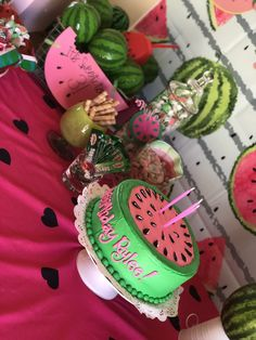 Watermelon Birthday Parties, 4th Birthday Parties, Birthday Bash, Birthday Party Decorations, Birthday Ideas, Picnic Birthday, Baby Boy Birthday, Watermelon Decor, Watermelon Pics