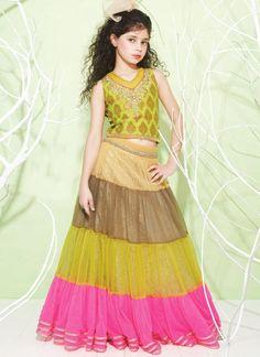 Kids Dress : Buy Kids Dresses Online Shopping At Best Prices Kids Lehenga, Net Lehenga, Lehenga Choli, Sarees, Kids Outfits Girls, Girl Outfits, Girls Dresses, Baby Dresses, Long Dresses