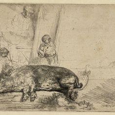 Rembrandt, De Zeug (the Hog) ( B 157 ), 1643. Teylers Museum