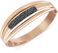 Swarovski Cypress Rose Gold-Tone Crystal Bangle Bracelet on shopstyle.com Bangle Bracelets, Bangles, Swarovski, Rose Gold, Bling, Crystals, Jewelry, Jewellery Making, Bracelet