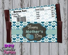 Printable MOTHER'S DAY Candy Bar WRAPPERS - Diy Mother's Day Gift Idea - Mother's Day Candy Bar Wraps - Mother's Day Print  Instant Download