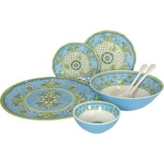 Le Cadeaux Benidorm Blue Melamine Dinnerware, 16 PC Set by Le Cadeaux. $219.99. Not Microwave safe (melamine never is). Dishwasher safe-Triple weight, tested for durability. Safe enough for children. 4 salad, 4 dinner, 4 cereal, 4 pc serving set. Designs inspired by French and Italian pottery. Heavy and durable special melamine, triple weight to ensure strength and resist shattering. Dishwasher safe, but not microwave safe (Melamine never is micro wave safe due to t...