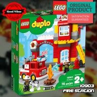LEGO 10903 Fire Station DUPLO Mainan Mobil Damkar Anak Original #thekingbricks #theking #thekingid #kingbricks #gvonline #uhappyihappy #tokolegoterpercaya #tokomainanoriginal #lego10903 Lego Duplo Sets, Lego Creationary, Lego Duplo Town, Legos, Top Toys For Boys, Kids Toys, Rubbish Truck, Lights And Sirens, Lego Knights