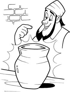 The potter and the clay coloring pages ~ 1000+ images about Jeremiah on Pinterest   Clip art, Bible ...