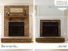 Fireplace Makeover | The Lettered Cottage  For our fireplace - yes please!