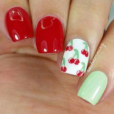 Nail Art Tutorial: Cherries