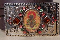 Virgins Saints and Angels bodhisattva belt buckle. #virgins_saints_and_angels #bodhisattva #buckle #belt
