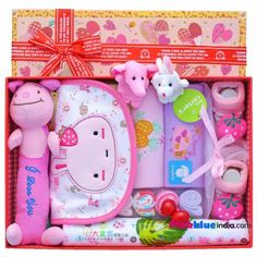 942af499615d1 Combination of Pink Infants Gift Sets for Baby Boy and Girl Online in India