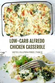 Recipes Low Carb This Low Carb Alfredo Chicken Casserole with Spinach makes a great low carb dinner recipe the whole family will love. This keto chicken recipe makes a great weeknight dinner, and is filled with all your favorite Alfredo flavors! Low Carb Dinner Recipes, Keto Dinner, Diet Recipes, Cooking Recipes, Kitchen Recipes, Healthy Recipes With Spinach, Clean Eating Dinner Recipes, Healthy Low Carb Recipes, Ketogenic Dinner Recipes