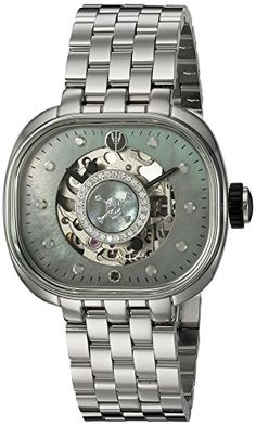 TULIPENOIRE Women's Mechanical Hand Wind Stainless Steel Watch, Color:Silver-Toned (Model: B2) ** Details can be found by clicking on the image.