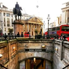 London. Bank Tube Station