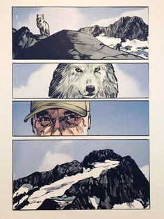 Le loup- JM Rochette Manga Comics, Mount Everest, Mountains, Nature, Travel, Wolves, Naturaleza, Viajes, Manga