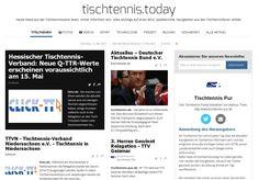 Mit Tischtennis.today täglich informiert | Tischtennis Blog