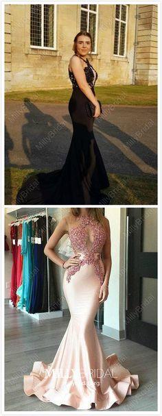 Long Prom Dresses Mermaid, Black Prom Dresses For Teens, Modest Prom Dresses Lace, Sexy Prom Dresses Sleeveless Vintage Formal Dresses, Dresses Elegant, Unique Prom Dresses, Formal Evening Dresses, Modest Dresses, Dress Formal, Party Dresses, Formal Gowns, Women's Dresses