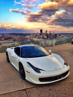 The Ferrari 458 is a supercar with a price tag of around quarter of a million dollars. Photos, specifications and videos of the Ferrari 458 Ferrari Italia 458, Luxury Sports Cars, Sport Cars, Lamborghini Gallardo, Bugatti Veyron, Fancy Cars, Cool Cars, Maserati, Supercars