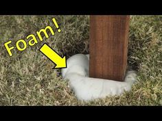 I decided to use expanding foam instead of concrete to install a new fence in my backyard. There's a few tips in this video that will help you out!