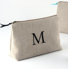 Bridesmaid Makeup Bag, Bridesmaid Clutches, Bridesmaid Gifts, Personalized Makeup Bags, Jewelry Roll, Linen Bag, Gifts For Wedding Party, Wedding Bag, Handmade Bags