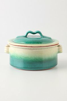 Emerald Ombre Covered Dish from Anthroplogie
