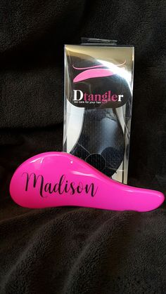 Personalized Brush/Monogrammed Brush/Dtangler Brush by JANDDDESIGNS2015 on Etsy
