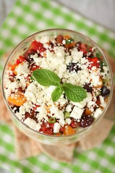 Can't wait to make it again! Greek Layer Hummus Dip Low Calorie Low Fat Healthy - Great for a party