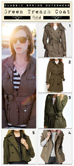 The classic trench coat is perfect for Spring. #jacket #trench #coat #outerwear