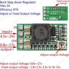 Adjustable Dc Dc Buck Step Down Converter 5v 24v To 3 3v 9v 12v 3a Power Supply Sony Led Tv Power Supply Power Supply Circuit