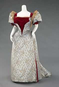 bridesmaid's dress by House of Worth, 1896.