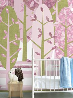 Wall Print collection by INKE IK2063 (Leidse Hout roze)