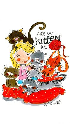 .. Blond Amsterdam, Cute Illustration, Pretty Pictures, Animal Pictures, Holland, First Love, Dog Cat, Cartoon, Drawings