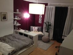 Schönes 18 qm Zimmer in Wg - WG Zimmer in Münster-Centrum - Irma Furrer Interior Design Examples, Room Interior Design, Small Rooms, Small Apartments, Studio Apartments, Apartment Design, Apartment Living, Appartement New York, Cozy Room