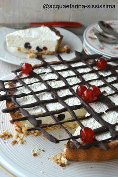 Crostata con bavarese e amarene | Ricetta di acqua e farina-sississima | #RisanaLa