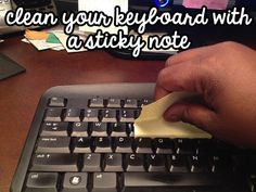 Have a crumb-free keyboard by cleaning with a sticky note! | 15 DIY Tricks That Are As Good As The Real Thing