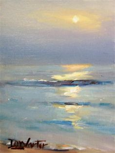 """OCEAN SUNSET"" - Original Fine Art for Sale - © Doug Carter"