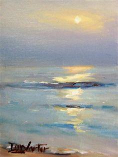 """OCEAN SUNSET"" - Original Fine Art for Sale - © Doug Carter"