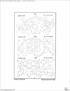 soutache embroidery pattern More patterns at link. Old