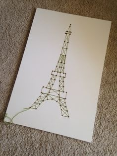 Eiffel tower, diy, string art, easy