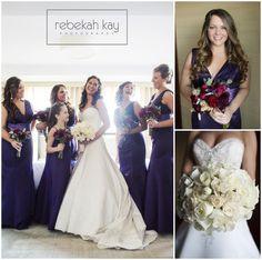 Rebekah Kay Photography www.rebekahkay.com  Windham, NH Wedding Photography Stunning Bride with Bridesmaids  Photos